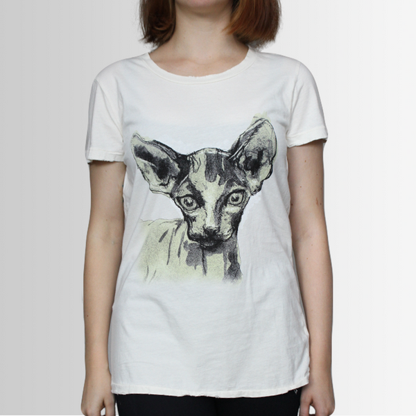 Kit our Sphinx Cat - Tee Shirt - Distressed - more colours