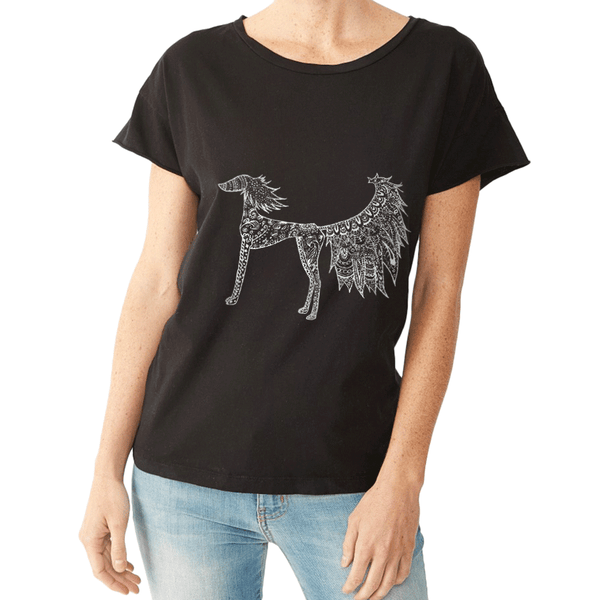 Harlow our Saluki - Tee Shirt - Rocker Style