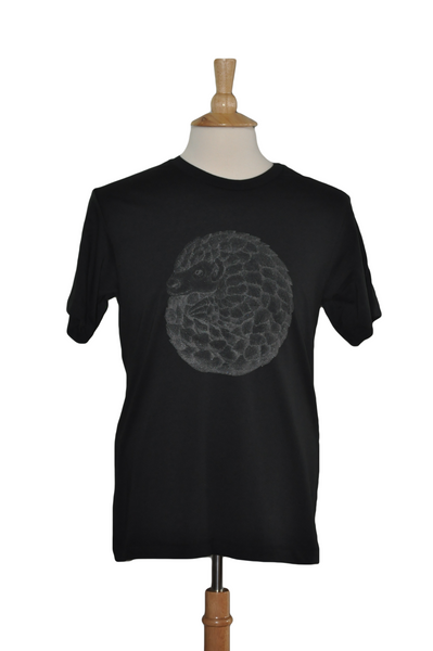 Percy the Pangolin, Black Print in Black, Mens