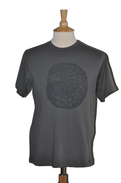 Percy the Pangolin, Black Print in Asphalt, Mens
