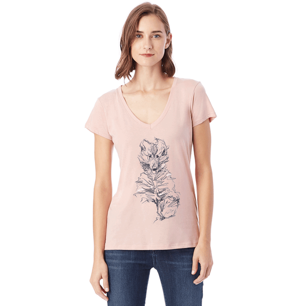 Elza Ladies Pink or White V NECK