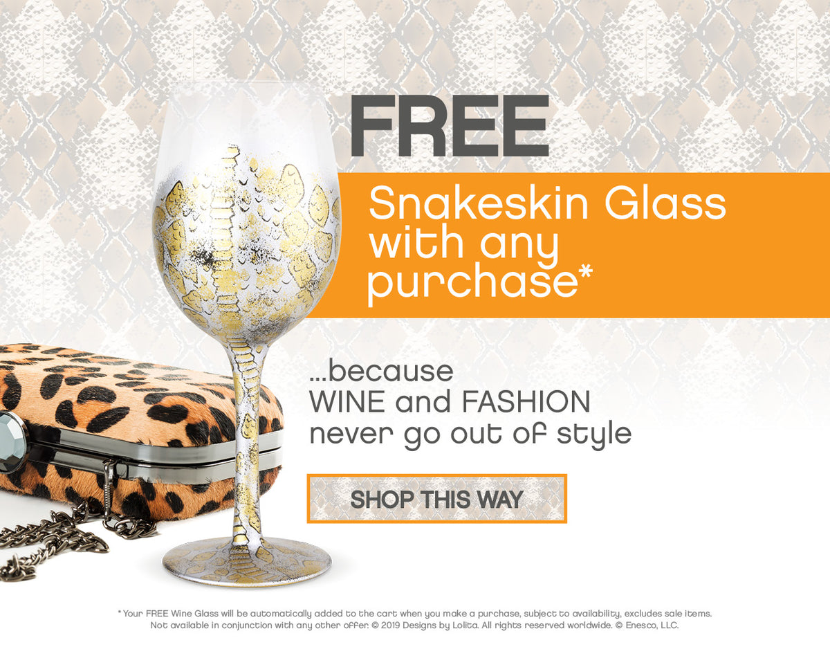 FREE Venom Snakeskin Glass with any purchase*