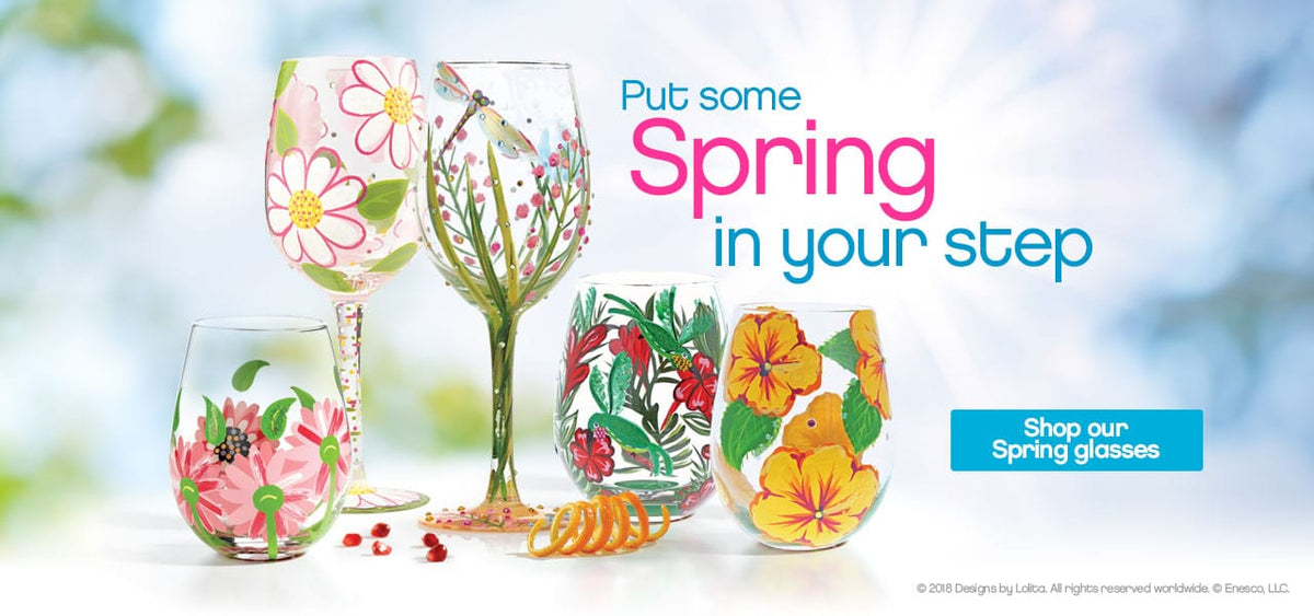 Put a little Spring in your step with our selection of seasonal glasses