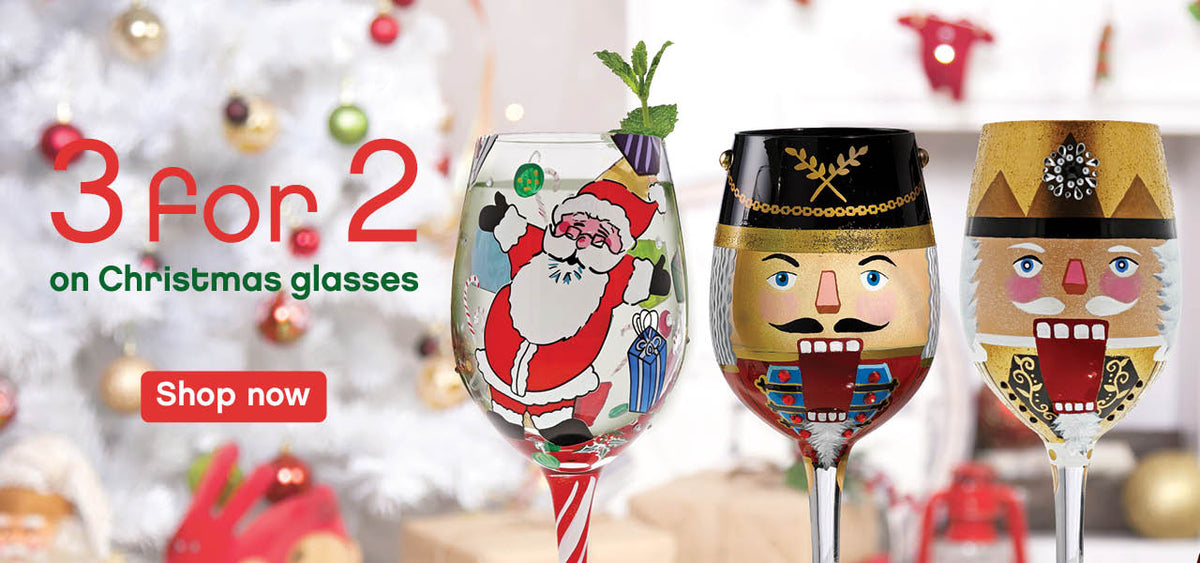 3 for 2 on Christmas Glasses