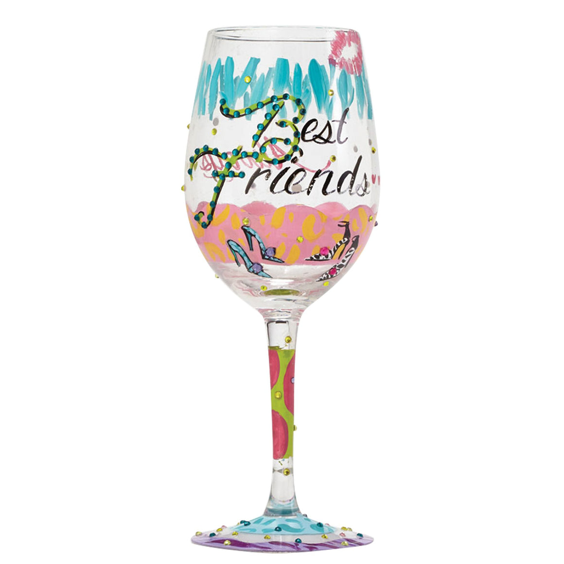 Best Friends Always Wine Glass by Lolita