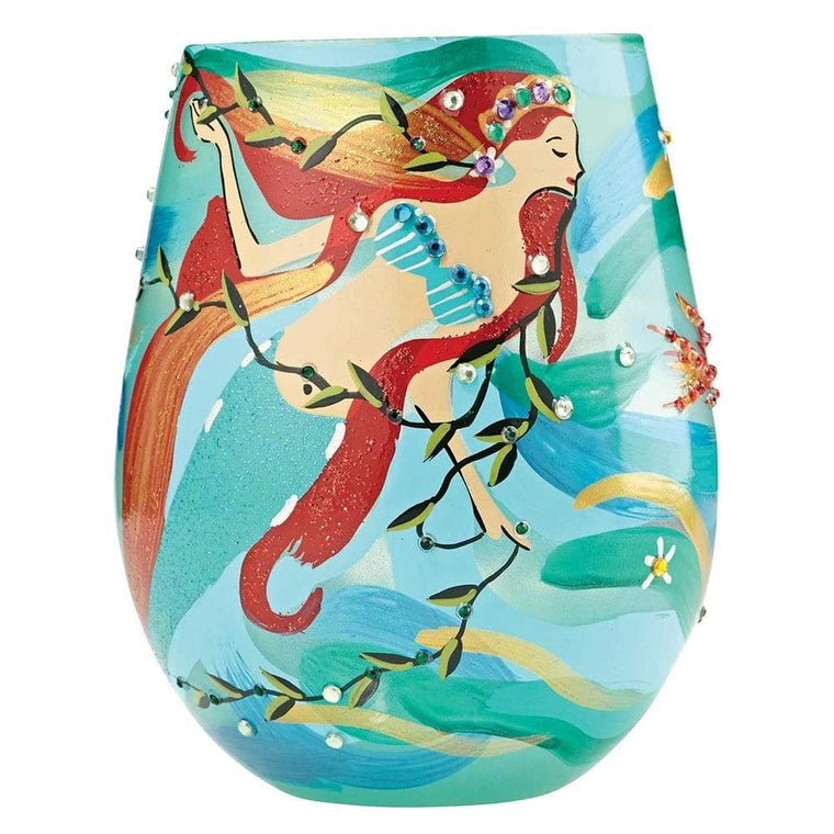 Lolita Mermaid Handpainted, Gift Boxed Glass