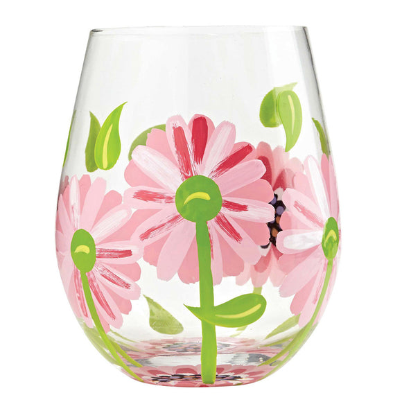 Oops a Daisy Stemless Wine Glass