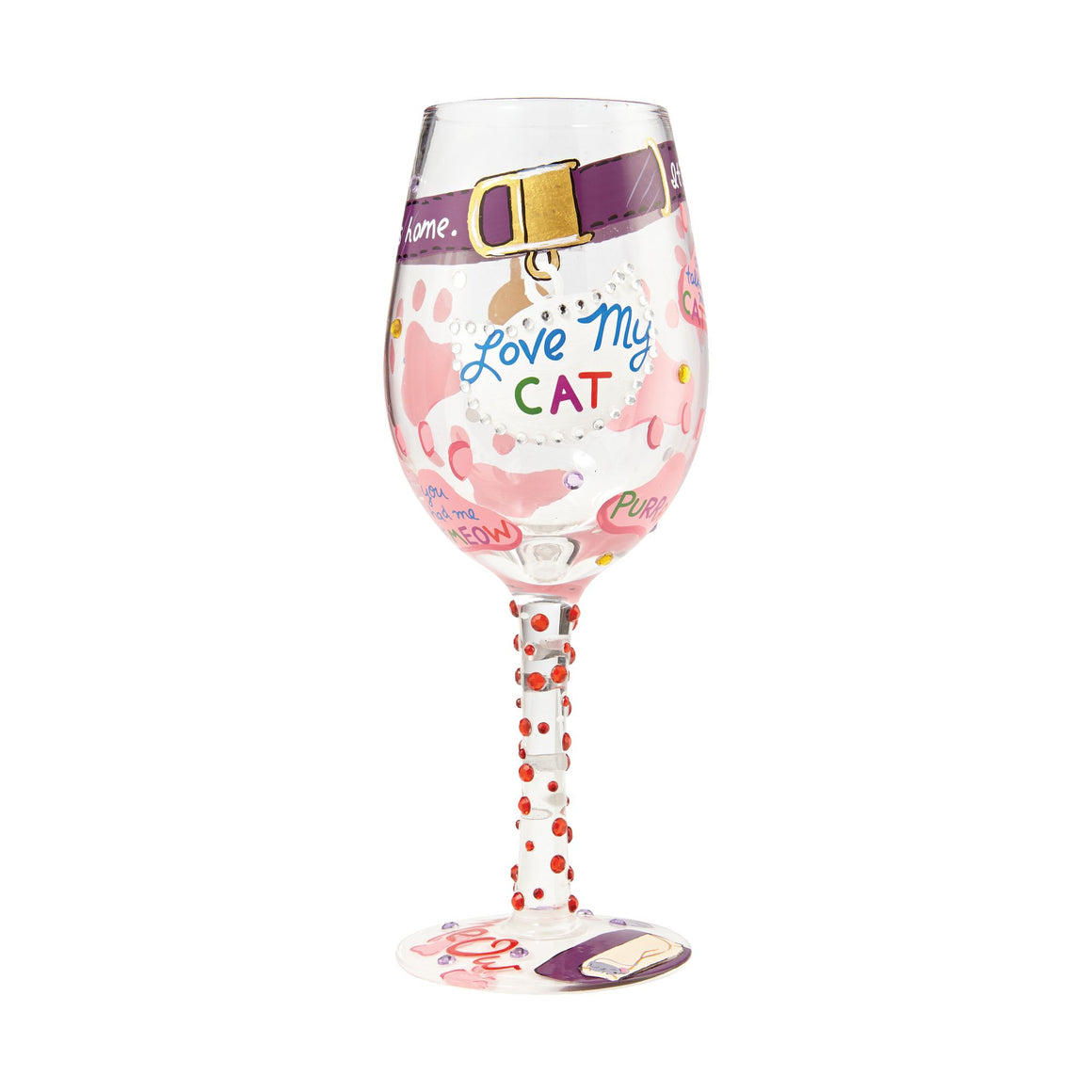 Love my Cat Wine Glass