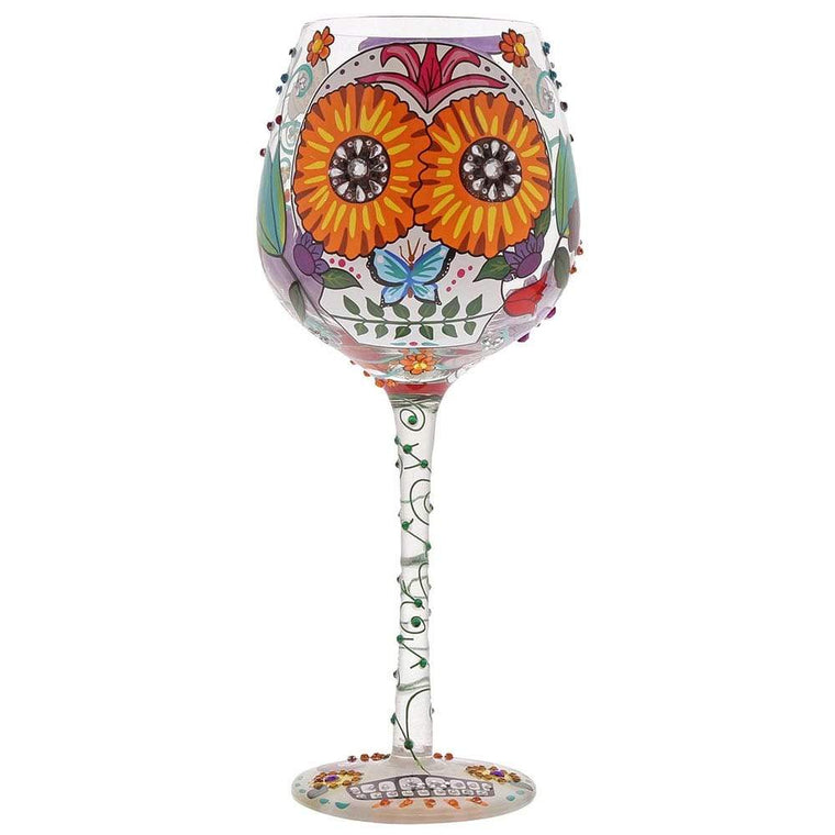 Superbling Sugar Skulls Extra Large Wine Glass