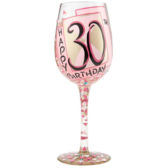 Lolita 30th Birthday Wine Glass