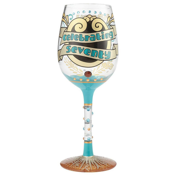 Lolita 70th Birthday Wine Glass