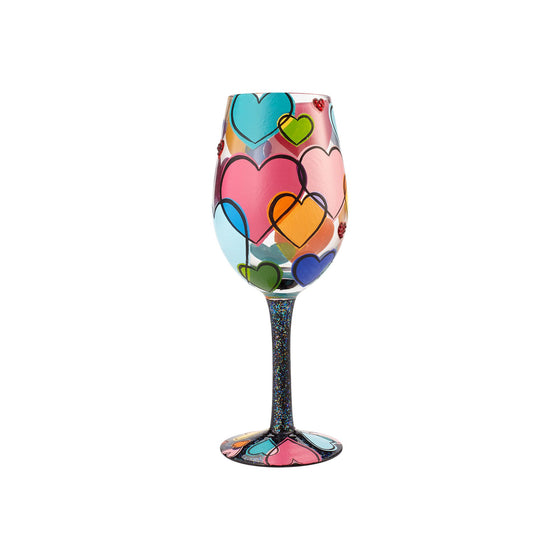 Lolita Love Is All Around Us Wine Glass