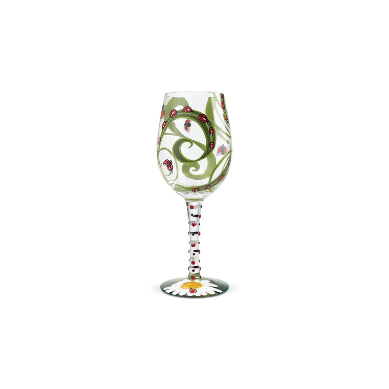 Ladybug Wine Glass by Lolita