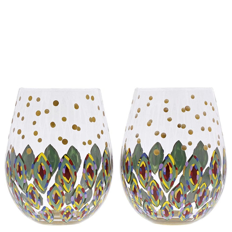 Floral Fantasy Glass Set of 2 - Website Exclusive