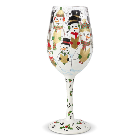 Singing in the Snow Wine Glass by Lolita