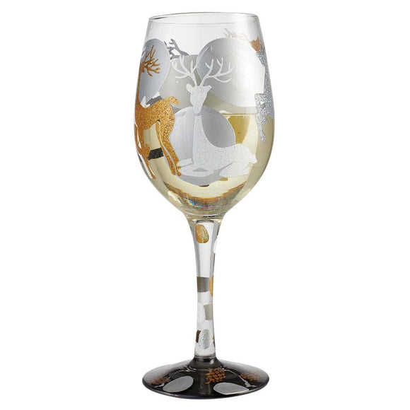 Lolita Vision of Reindeer Wine Glass