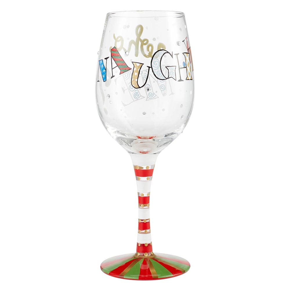 Naughty... Who Me? Wine Glass by Lolita