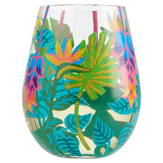 Tropical Vibes Stemless Wine Glass by Lolita