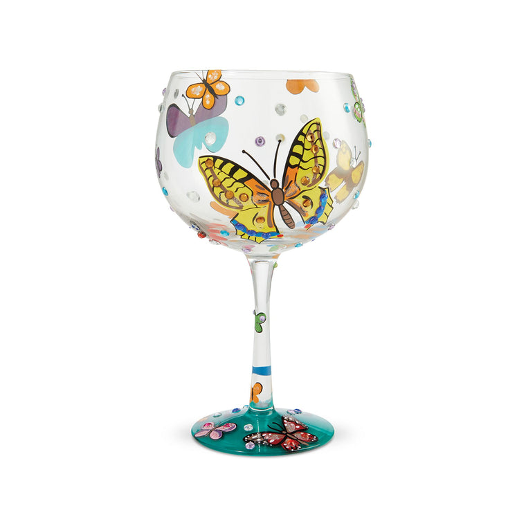 Butterflies Gin Glass by Lolita