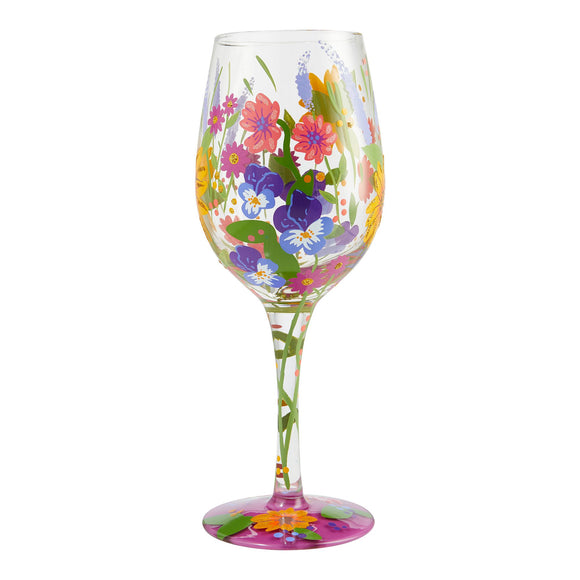 In the Garden Wine Glass by Lolita