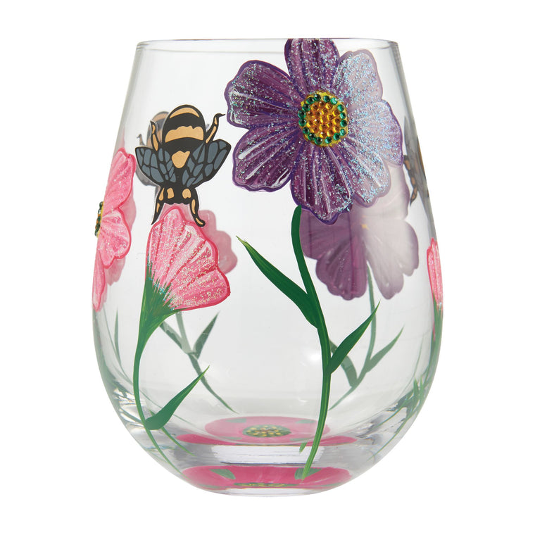 My Drinking Garden Stemless Wine Glass by Lolita