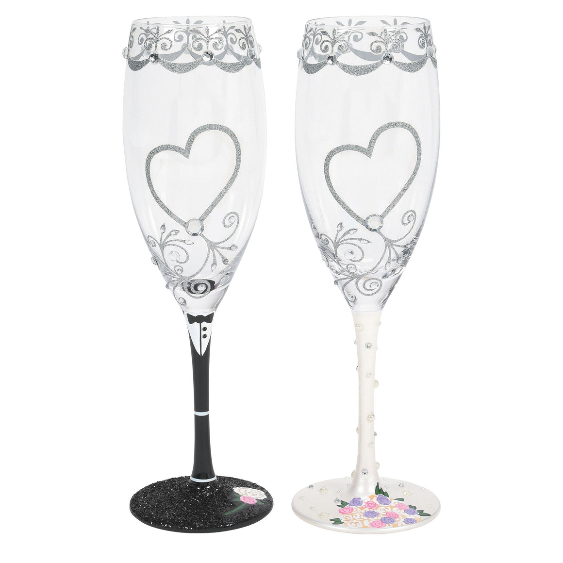 Mr & Mrs Toasting Glasses Set (Set 2)
