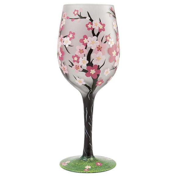 Cherry Blossom Wine Glass by Lolita