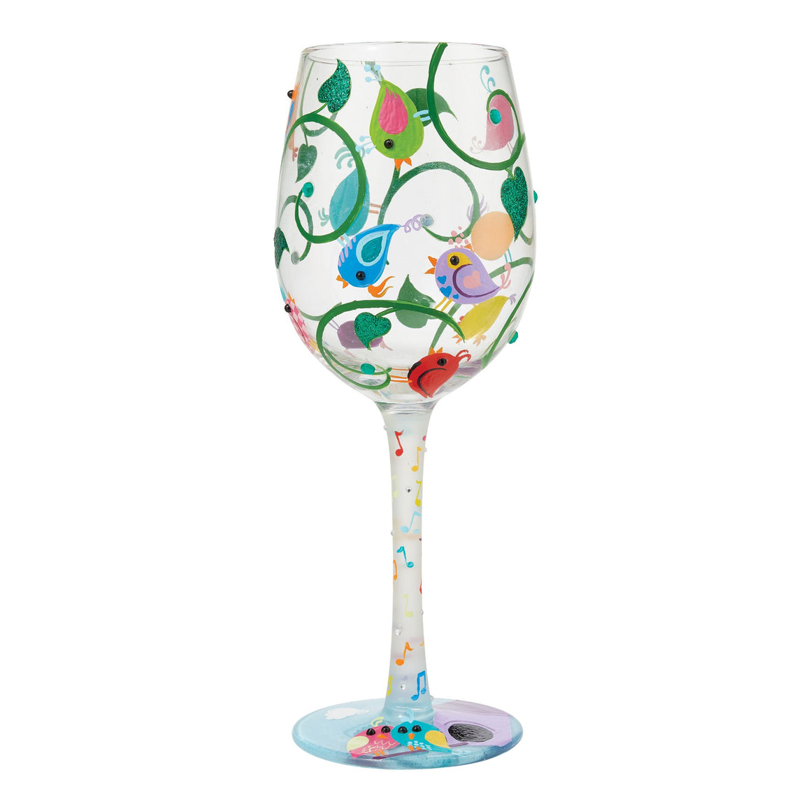 Song Bird Wine Glass