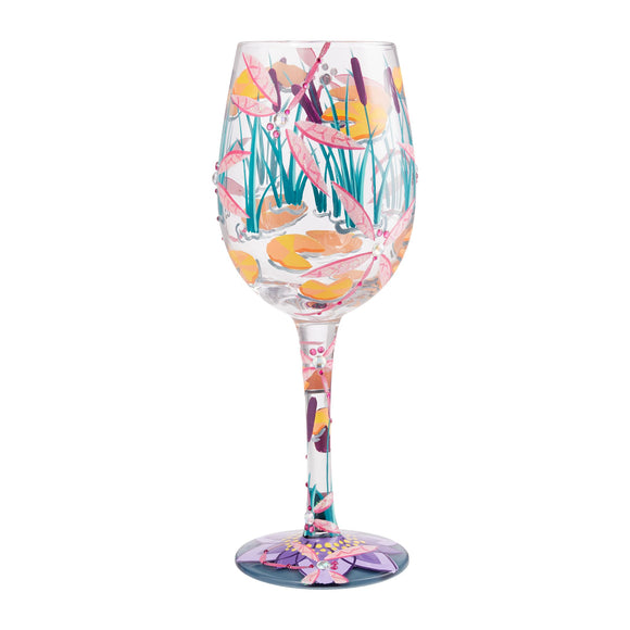Dragonfly Magic Wine Glass by Lolita