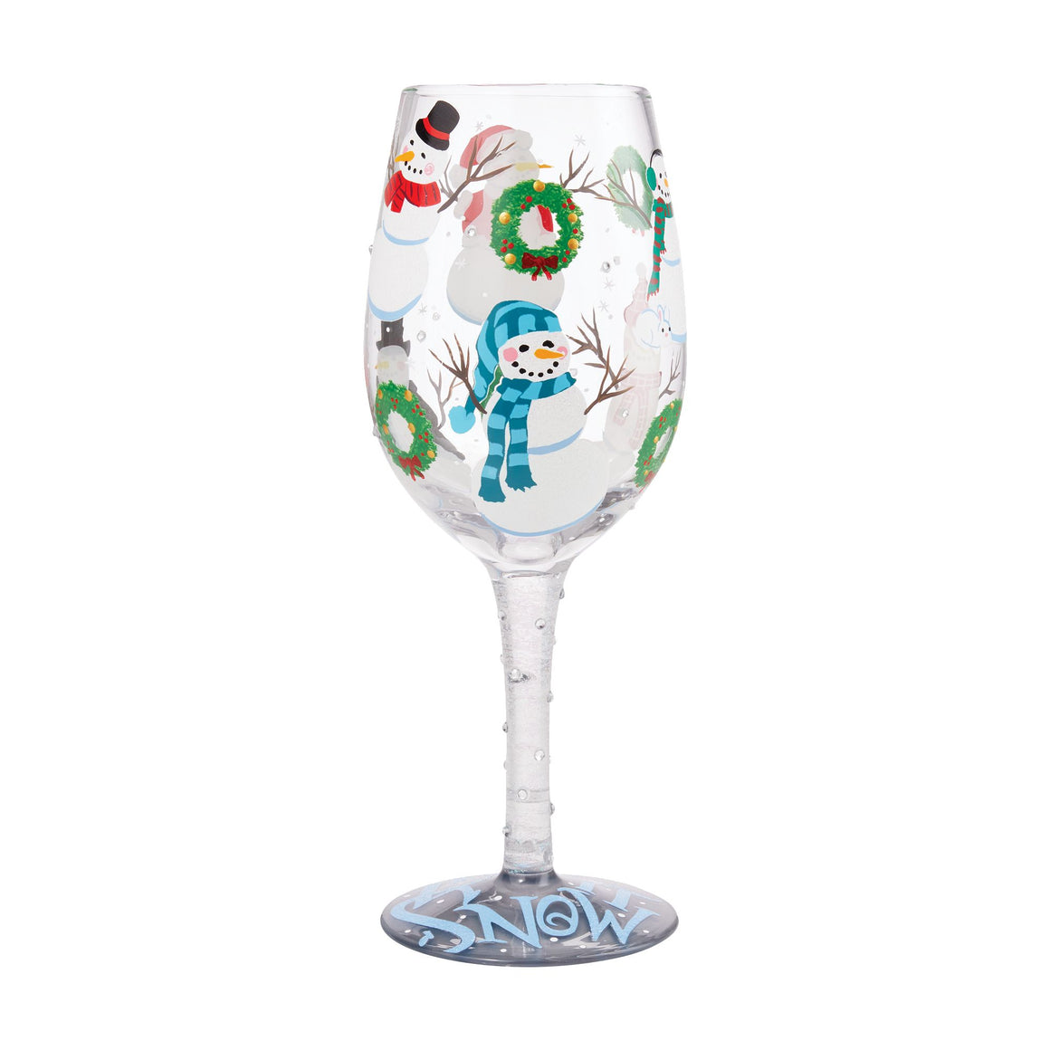 Jolly Snowmen Wine Glass
