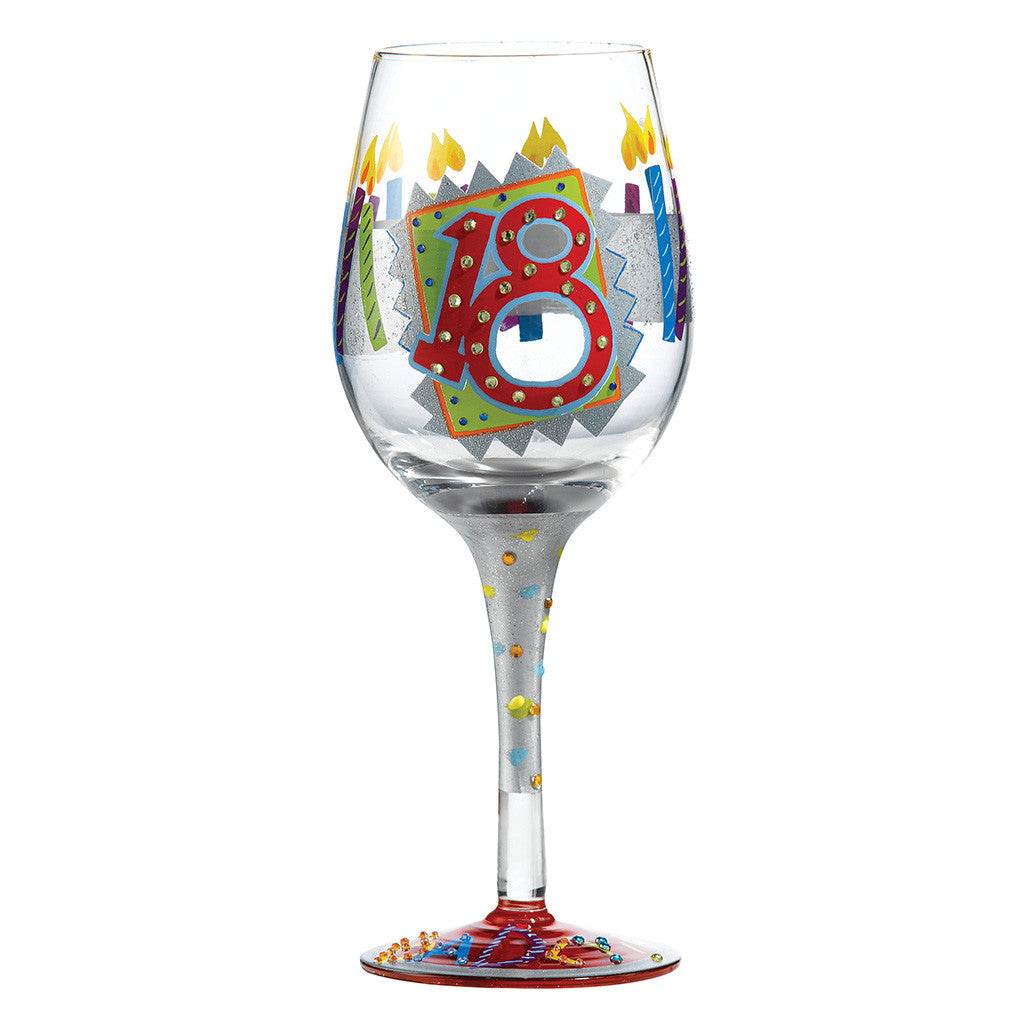 Lolita 18th Birthday Wine Glass