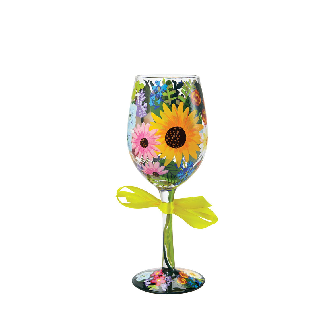 Wildflowers Wine Glass