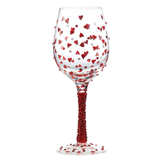 Lolita Red Hot Hand Painted, Gift Boxed Wine Glass