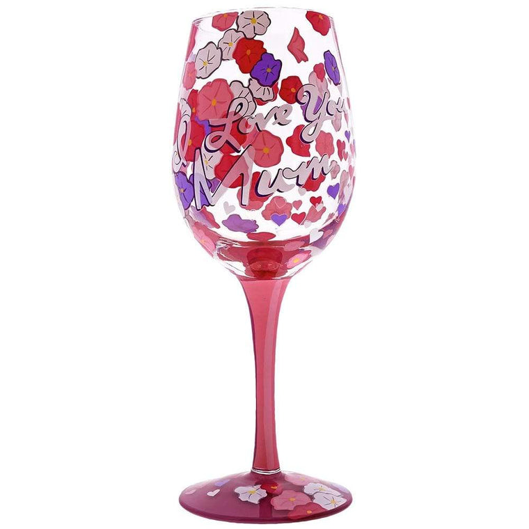 Lolita I Love You Mum Wine Glass