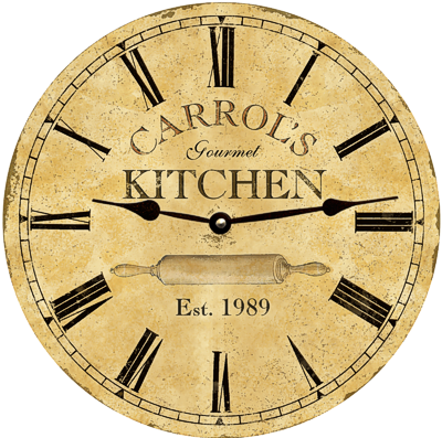 Personalized Kitchen Clock-Cooking Wall Clock