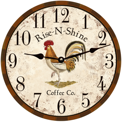 Rooster Clock-Rooster Kitchen Wall Clock-Country Kitchen Clock