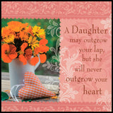 A Daughter May Outgrow Sentiment Tea Towel