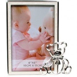 Baby Photo Frame With Bear Cream
