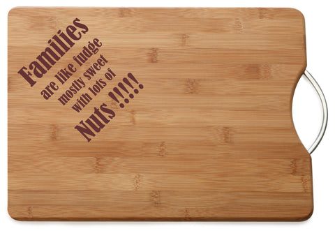 Personalised Engraved Acacia Wood Chopping Board Gift For Special Family