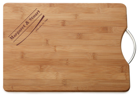 Personalised Engraved M & W Chopping Board Gift For Marriage & Anniversary