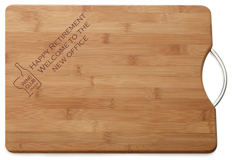 Personalised Engraved M & W Chopping Board Gift For Person Getting Retired