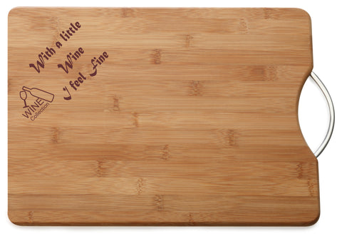 Personalised Engraved M & W Chopping Board Gift For Wine Lover