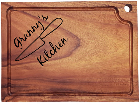 Personalised Engraved Acacia Wood Chopping Board Gift For Specific Person
