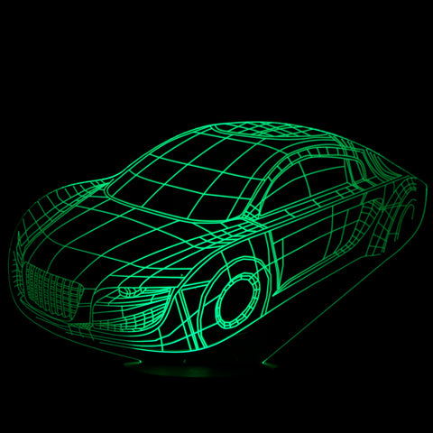 3D Car Night Light