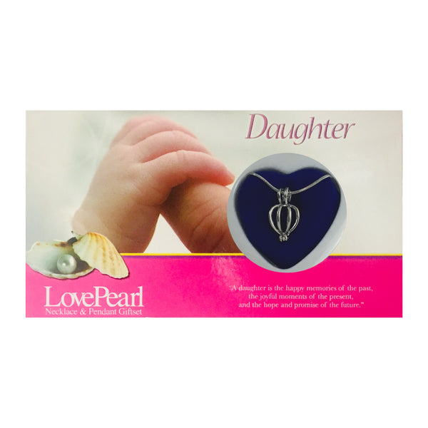 DAUGHTER - LOVE PEARL NECKLACE & PENDANT GIFTSET