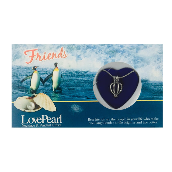 FRIENDS - LOVE PEARL NECKLACE & PENDANT GIFTSET
