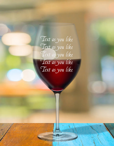 Personalised Glass With Your Own Words