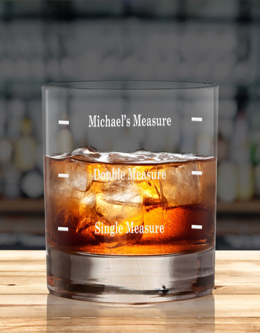 Personalised Humorous Glasses For Whiskey/Scotch Lover