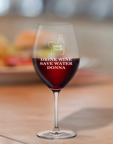 Personalised Humorous Glasses For Wine Drinker