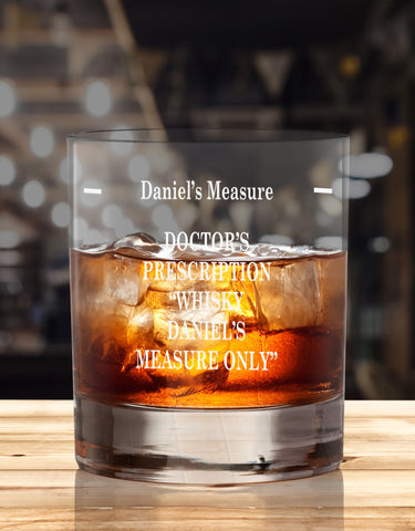 Personalised Humorous Glasses For Whiskey Drinker